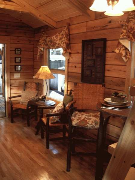 400sqft Oak Log Cabin On Wheels With Must See Interior At